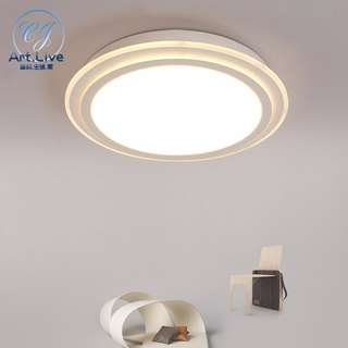 CJAL 圆形吸頂燈超薄臥室燈房間燈客廳燈led餐廳燈具儿童燈飾新款
