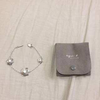 Agnes B silver bracelet