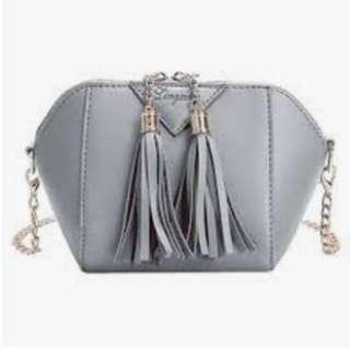 PRICE DROPPED Mini Casual PU Leather Tassel Zipper Closure Shoulder Bag Small Tote Ladies Purse