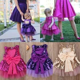 Party Dress Sequin Dress Ribbon