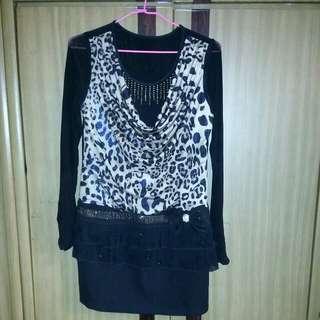 🚚 垂墬感豹紋優質洋裝