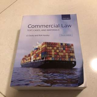 Commercial Law (Text, Cases, and Materials) Oxford LS Sealy and RJA Hooley Fourth Edition