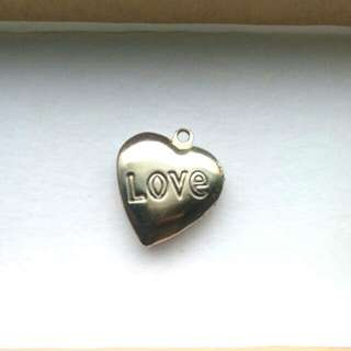 Silver heart locket (pendant)