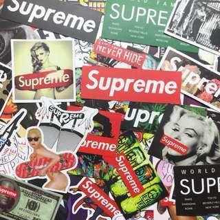 Supreme 行李箱貼紙 歐美潮牌PVC防水貼紙
