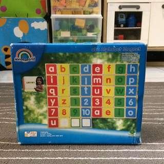 Mainan Kayu Magnet Alphabet