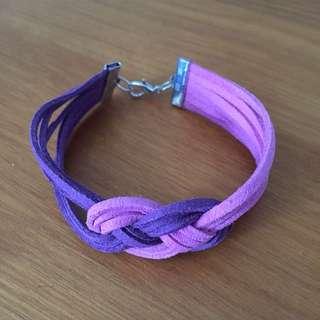 Infinity Knot Romance Suede Bracelet