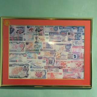 Picture Of Singapore Currency Note With Frame