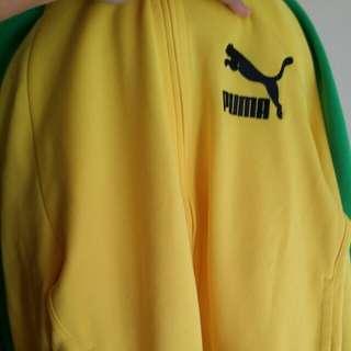 puma黃色褸 全新  S碼