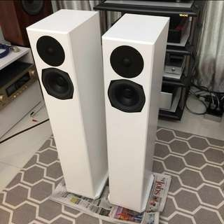 Rare White Totem Sttaf Acoustic Tower Speakers (Pair) bowers b&w bookshelf marantz amplifer rotel
