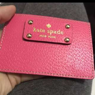 Brand new Kate spade leather card holder pink
