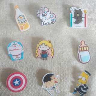 Cartoon pin