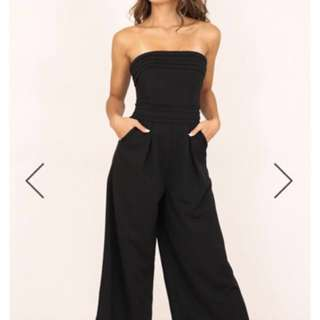 SHOWPO BLACK UP HEAD STRAPLESS JUMPSUIT FORMAL OCCASIONS