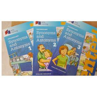 ACEL learning vocabulary synonyms and antonyms book 1 to book 3