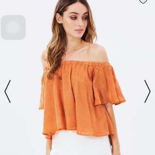 FINDERS KEEPER Better Days Ruffle Top