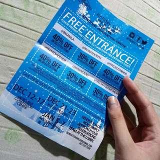 3pcs Free Entrance coupons trendsetter's bazaar