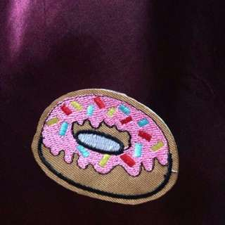 Donut Iron On Patch Sprinkles Cute