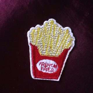 French Fries Iron On Patch Cute