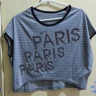 Semi crop top blouse