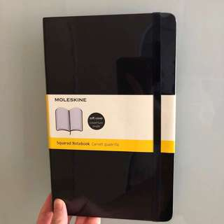 [New & Sealed] Moleskine Soft cover, Large, Squared Notebook
