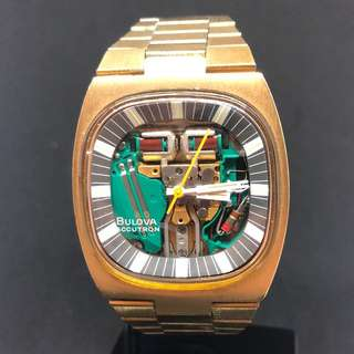 🇺🇸 1969 Vintage 10k gold plate Bulova Accutron SPACEVIEW 214 Tuning Fork - 世上第一款tuning fork音义振頻表 36x44mm