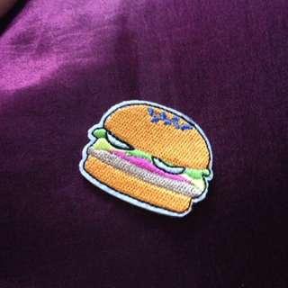 Iron On Hamburger Patch