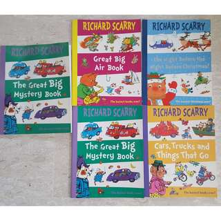 Richard Scarry set of 4 books