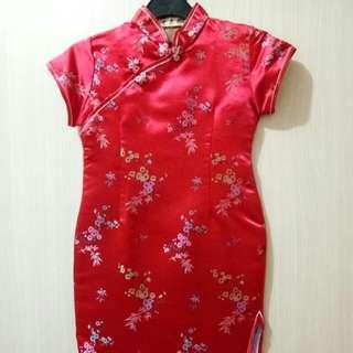 Dress Cheongsam / baju china anak cewek (murah)