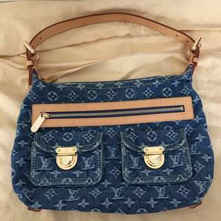 Louis Vuitton Monogram Denim Baggy PM Shoulder Bag LV牛仔布單肩手袋