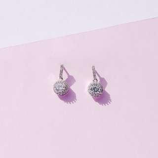 Lined Rhinestone Earrings