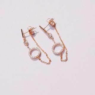 Studded Eternity Chain-back Earrings