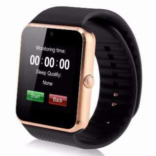 GT08 Bluetooth Smart Wristband SIM Card Watch with NFC Function for Android iPhone (Gold/Silver)