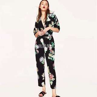 Zara Inspired! Floral Jumpsuit