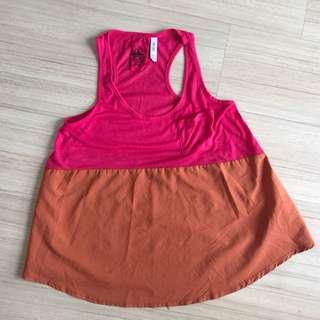 Neon duo color sleeveless