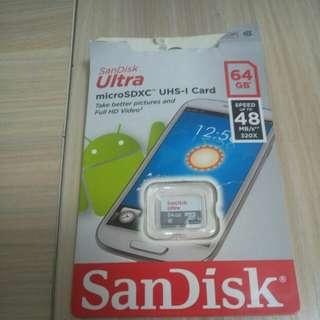 Sandisk MicroSD UHS-1 64G