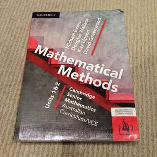 Maths Methods Units 1/2 Textbook