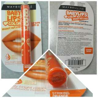 Maybelline Baby Lips Bright Out Loud- Striking orange