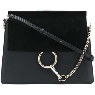 Chloe Faye Bag Black,100%authentic, 70%new!