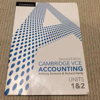 VCE Accounting Units 1/2