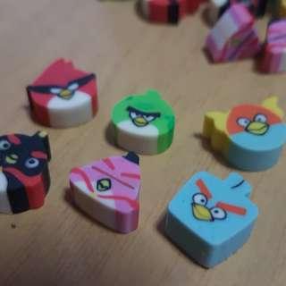 Angry Bird Erasers