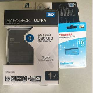 WESTERN DIGITAL MY PASSPORT ULTRA 1TB EXTERNAL USB 3.0 HARD DRIVE