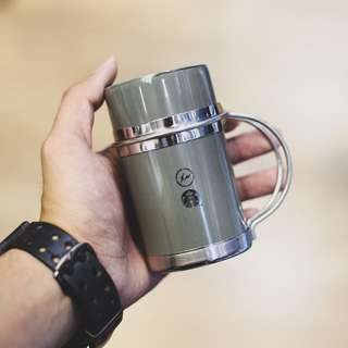 STARBUCKS x Fragment Design Stainless Handle Mug 237ml GRAY