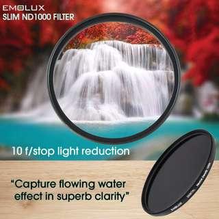Emolux Digital SLIM ND1000 Optical Glass Camera Lens Filter ★52mm-77mm★