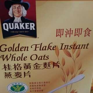 桂格黃金麩片燕麥片Quaker golden flake oats