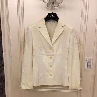 🚚 DOLCE&GABBANA 米白色彈性西裝外套
