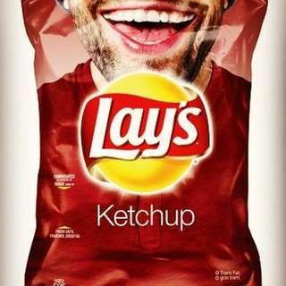 LAY'S KETCHUP CHIPS 利是茄汁薯片