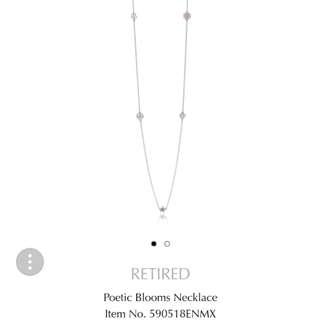 PANDORA Poetic Blooms Silver Necklace