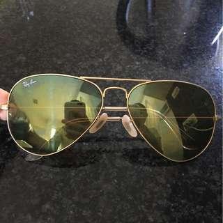 Ray-ban reflective sunglasses green lens