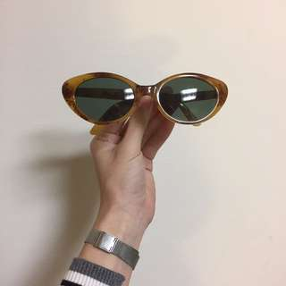 復古 綠鏡片 貓眼墨鏡