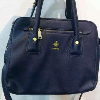 Imported little room handbag (dark blue)