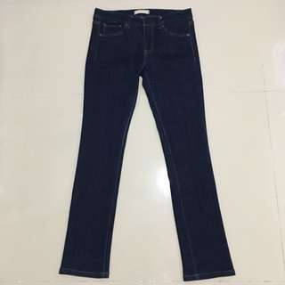 Uniqlo Skinny Fit Middle Rise Raw Jeans